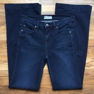Free People Dark Wash Bell Bottom Flare Jeans